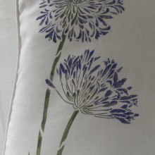 Purple Agapanthus Cushion