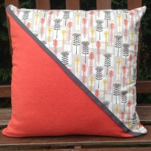 Orange Protea Design Cushion