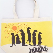 Canvas Tote Bag – Meerkat Print
