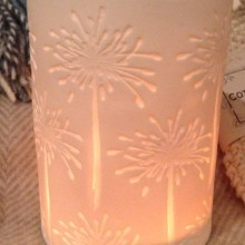 Porcelain Tealight Holder – Agapanthus Design