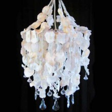 Seedpod Chandelier With Glass Beads