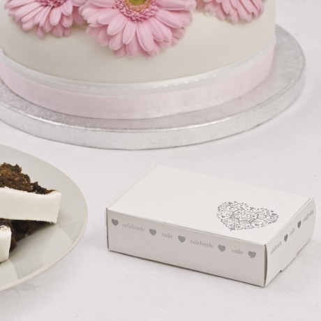 Silver Heart Wedding Cake Box (10)