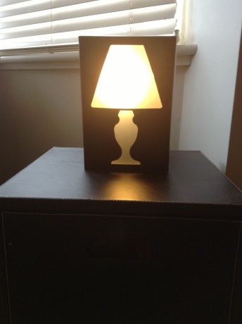 Box Shaped Table Lamp