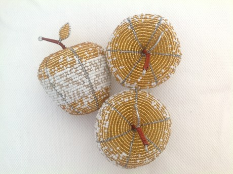 Beaded Wire Craft Apple Table Accessory