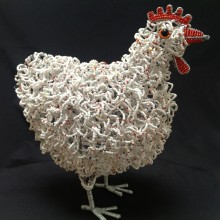 Wire & Bead Craft Hen (Large)