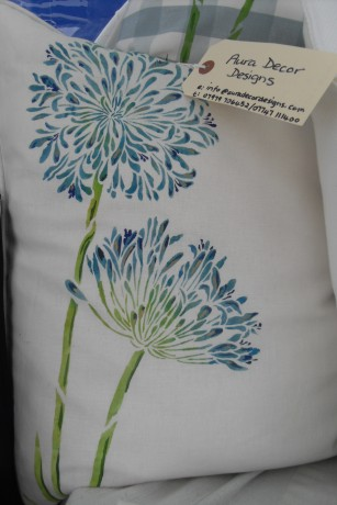 Blue Agapanthus Cushion