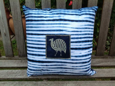 Nautical Cushion Guinea Fowl Motif