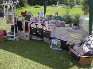 AuraDecor Design's stall at the 2013 Garden Party