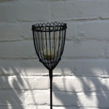 Nkuku Linear Garden Lantern Stake Set of 2