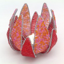 Beaded Protea shaped Tealight Holder