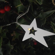 Wooden Star Light Chain