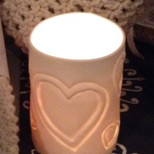 Heart Porcelain TeaLight Holder