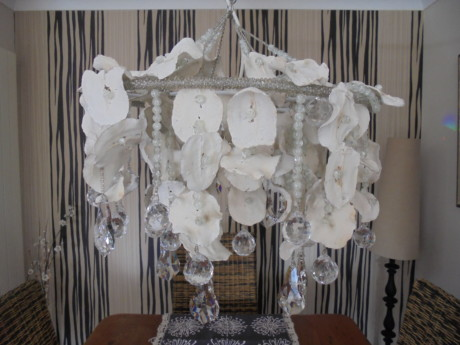 Handcrafted Jacaranda Seedpod Chandelier