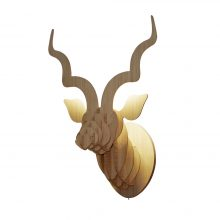 Animal Head Wall Sculpture – Bamboo Kudu